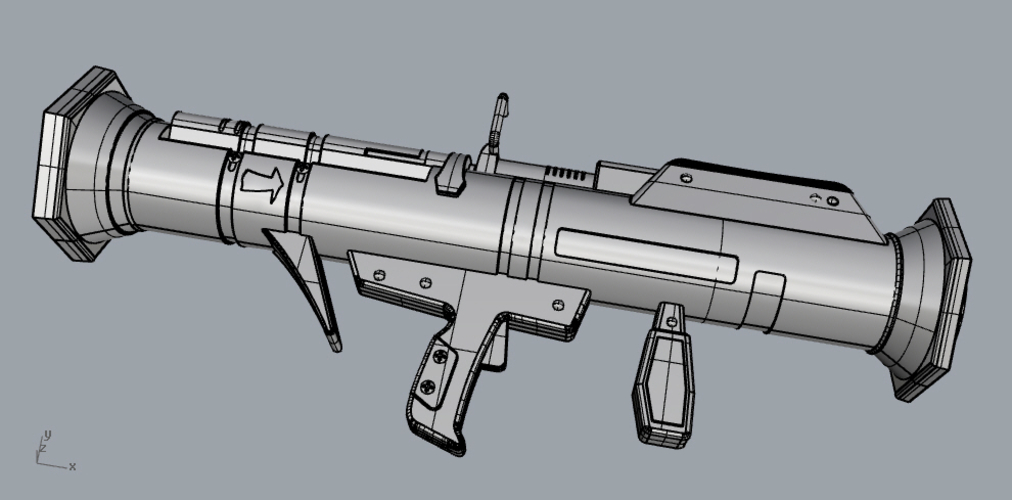 FORTNITE GUIDED MISSILE LAUNCHER for cosplay 3D Print 205034