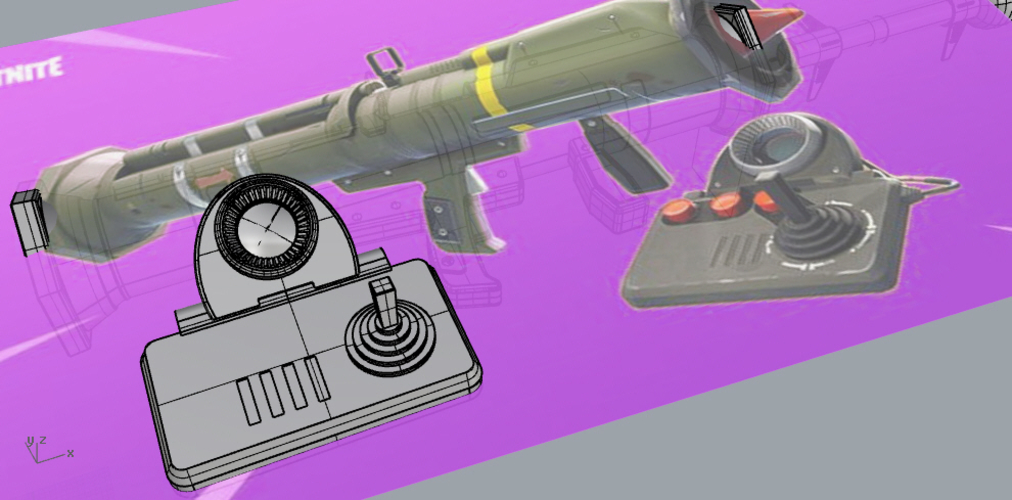FORTNITE GUIDED MISSILE LAUNCHER for cosplay 3D Print 205036