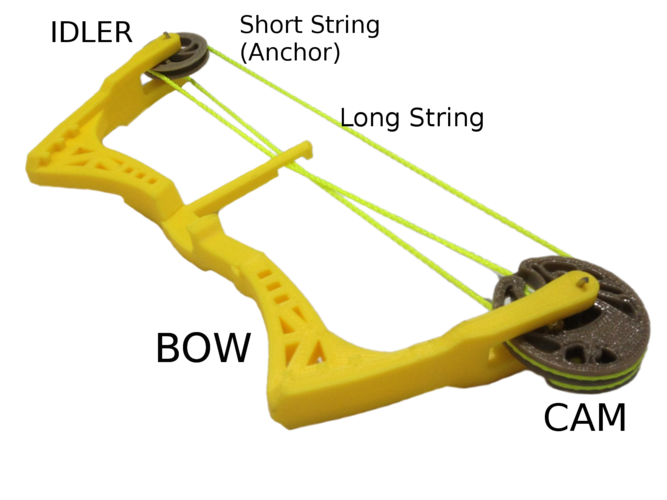 Mini Compound Bow and Arrow 3D Print 205047