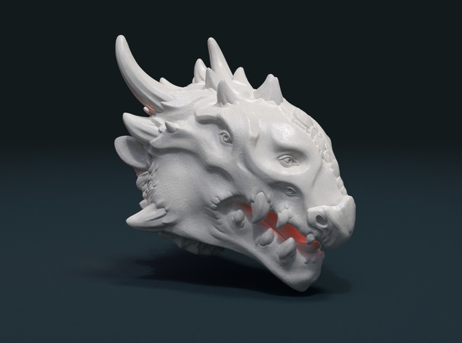 Demon Dragon Head 3D Print 205057