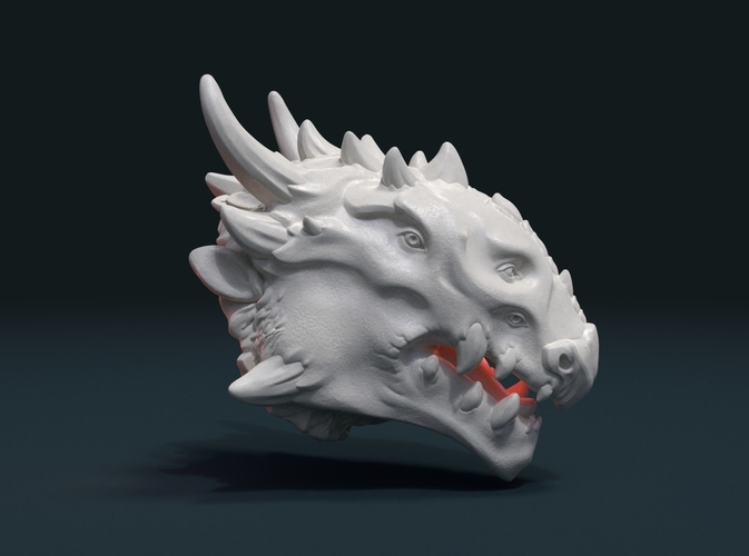 Demon Dragon Head 3D Print 205058
