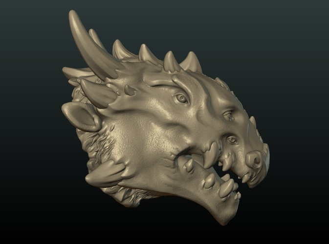 Demon Dragon Head 3D Print 205059