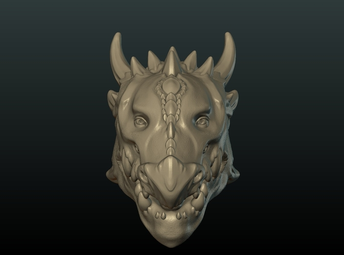 Demon Dragon Head 3D Print 205060