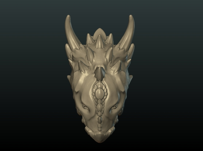 Demon Dragon Head 3D Print 205061