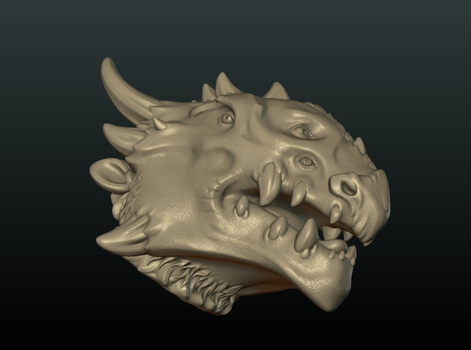 Demon Dragon Head 3D Print 205062