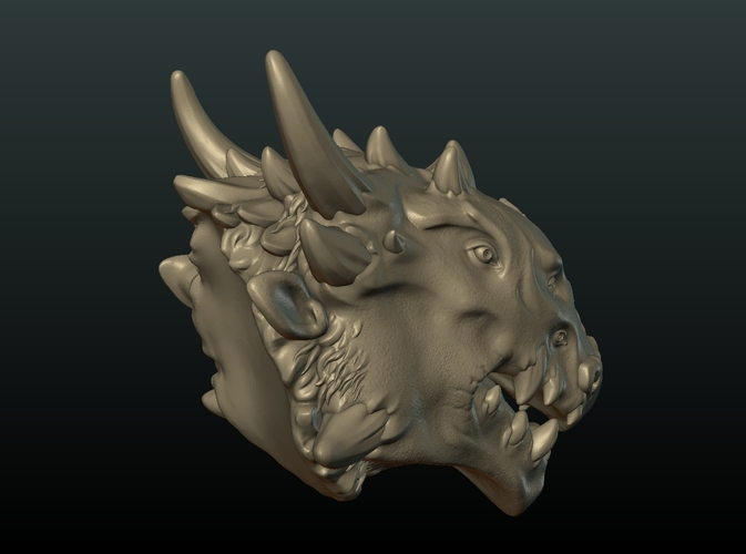 Demon Dragon Head 3D Print 205063