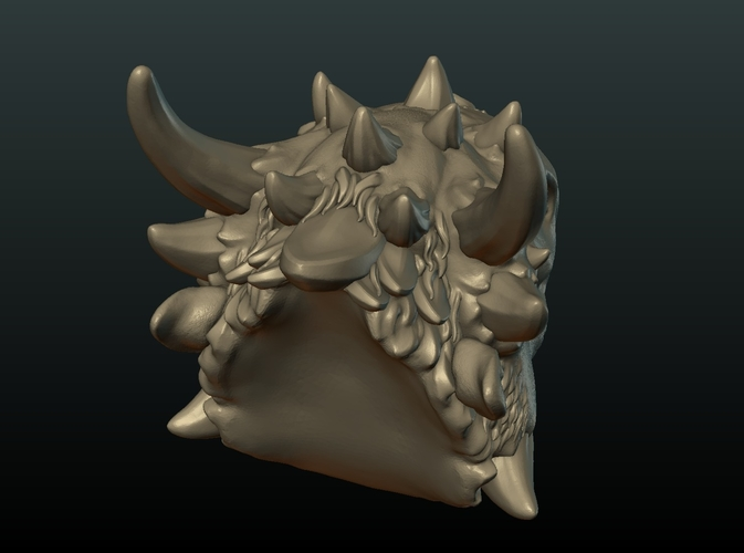 Demon Dragon Head 3D Print 205064