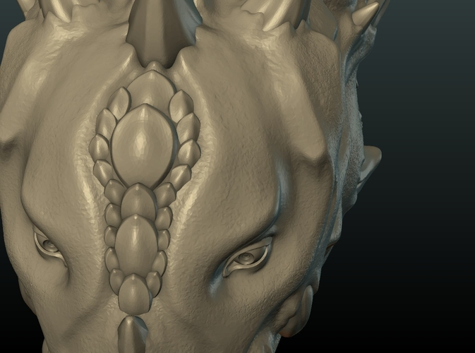 Demon Dragon Head 3D Print 205069