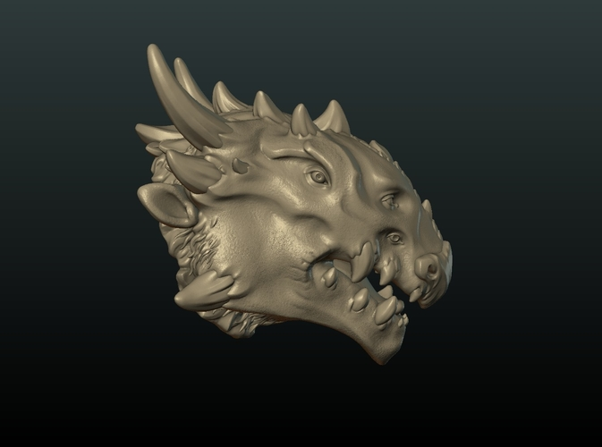Demon Dragon Head 3D Print 205071