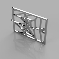 Small Voronoi Earrings_v3 3D Printing 205075