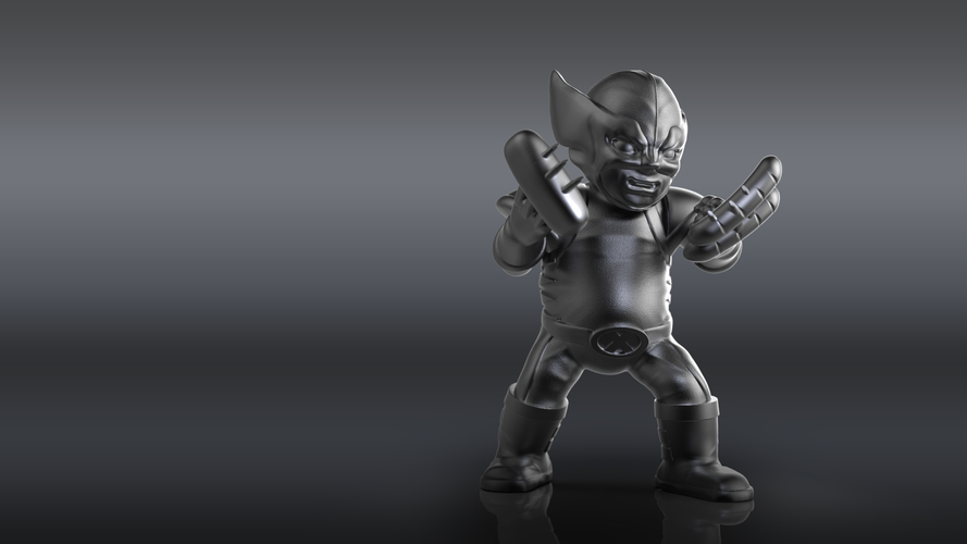 Chubby Wolverine (low res) 3D Print 205119