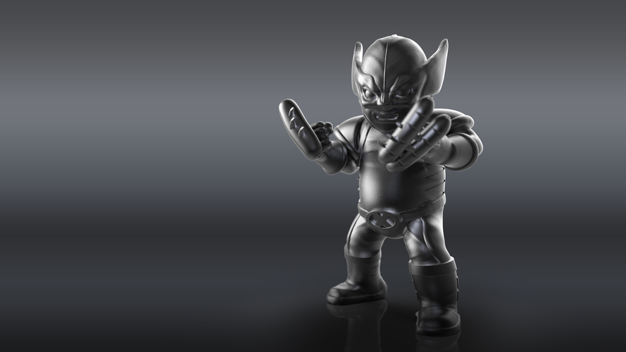 Chubby Wolverine (low res) 3D Print 205120