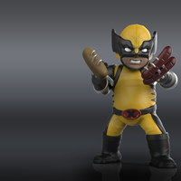 Small Chubby Wolverine (low res) 3D Printing 205121