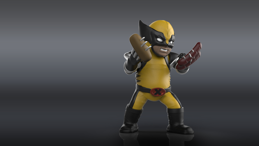 Chubby Wolverine (low res) 3D Print 205122