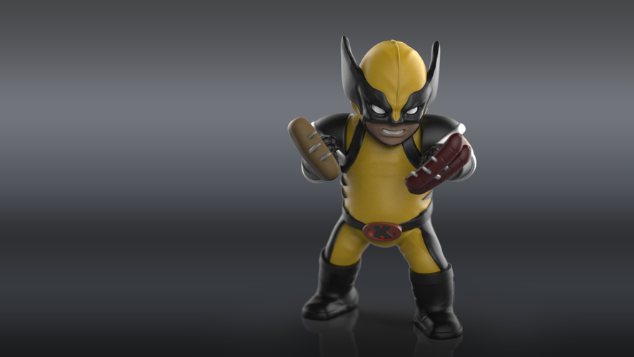 Chubby Wolverine (low res) 3D Print 205123