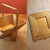 Small Collapsible Basket 3D Printing 205137