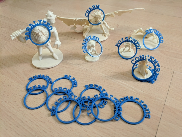 Medium D&D Condition Rings 3D Printing 205147
