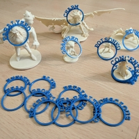 Small D&D Condition Rings 3D Printing 205147