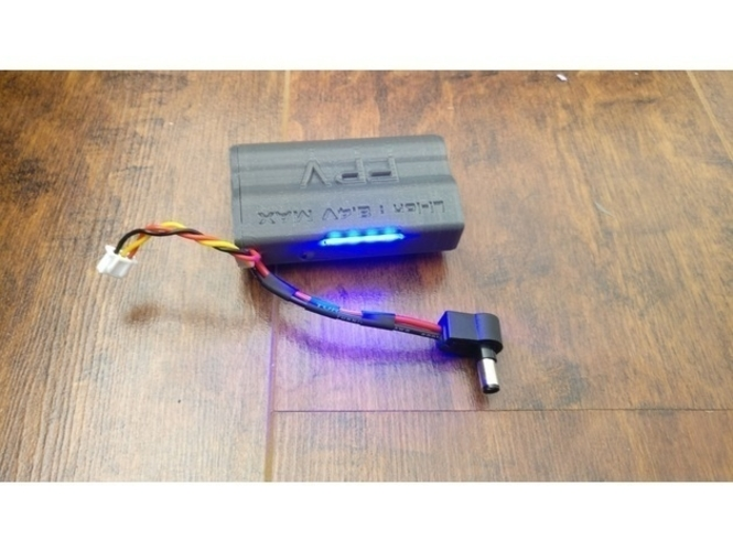 Fatshark 18650 FPV battery Case with LED 3D Print 205189