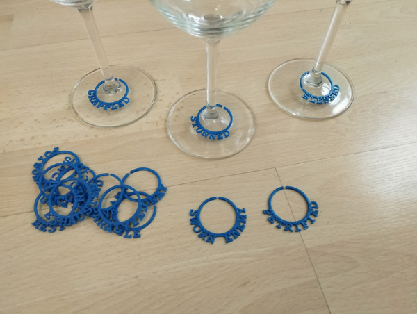 Medium D&D Wine Glass Marker 3D Printing 205237
