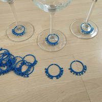 Small D&D Wine Glass Marker 3D Printing 205237