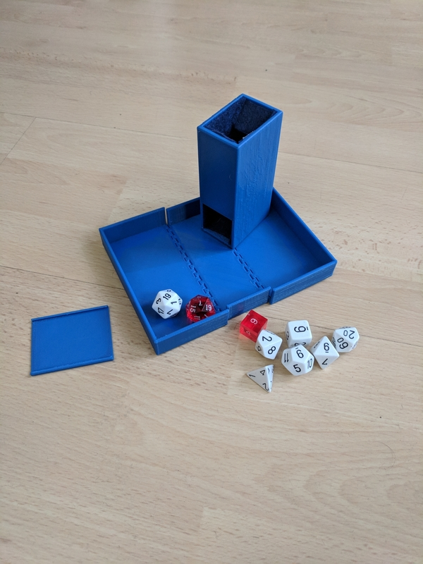 Medium Dice Tower and Dice Box 3D Printing 205239