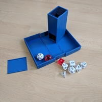 Small Dice Tower and Dice Box 3D Printing 205239