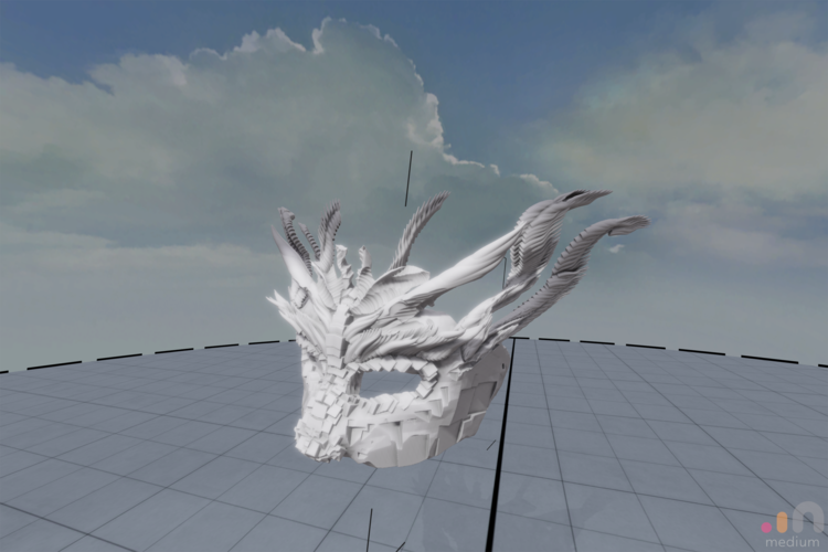 Dragon Mask 3D Print 205457