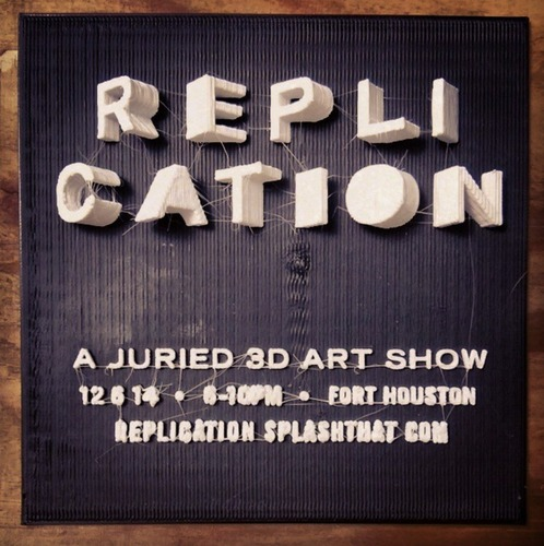 3D Printed REPLICATION 3D INVITE By Print That Thing Pinshape