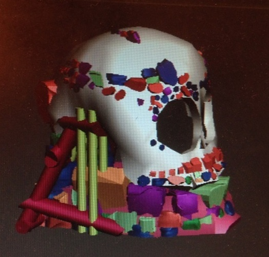 skull and jaw decoration ornament  3D Print 20558