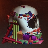 Small skull and jaw decoration ornament  3D Printing 20558