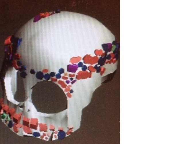 skull and jaw decoration ornament  3D Print 20562