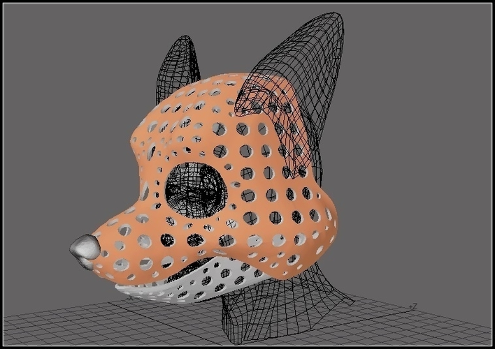 Fursuit- or puppet-head base - version 51 - toon canine 3D Print 205659