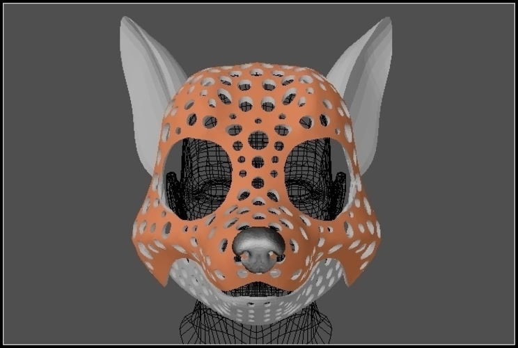 Fursuit- or puppet-head base - version 51 - toon canine 3D Print 205664