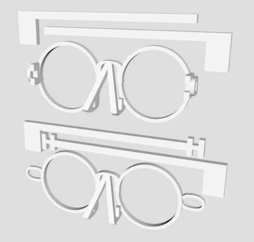 Glasses made out of Letters (Beta - updated) 3D Print 205669