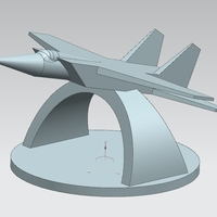 "Small Monument ""The MIG of takeoff"" (MIG na vzlete) 3D Printing 205719"