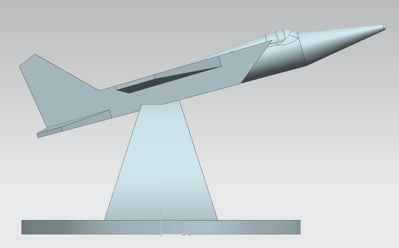 "Monument ""The MIG of takeoff"" (MIG na vzlete) 3D Print 205720"