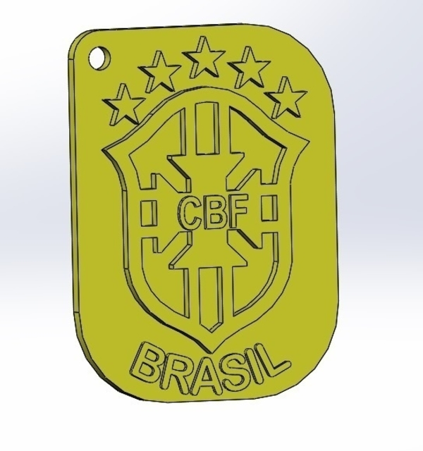 Medium keychain world cup brazil 3D Printing 205837