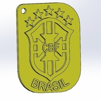 Small keychain world cup brazil 3D Printing 205837