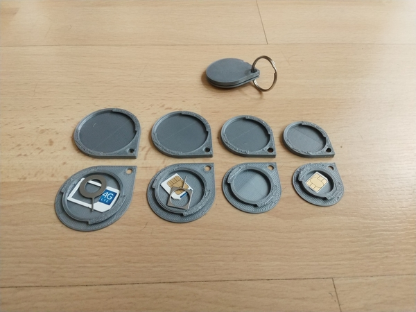 Medium Key Ring Safe for Sim Cards 3D Printing 205849