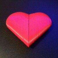 Small Twistable heart 3D Printing 20586
