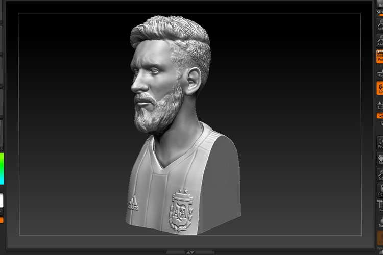 bust of messi mundial 2018 3D Print 205944