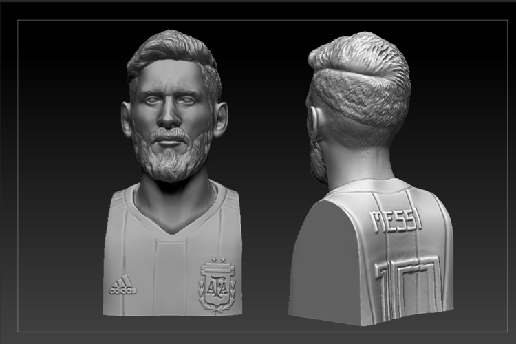 bust of messi mundial 2018 3D Print 205945