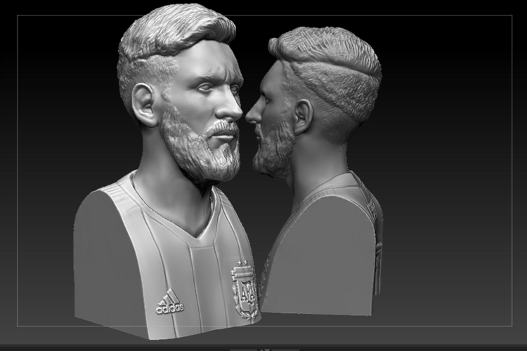 bust of messi mundial 2018 3D Print 205946