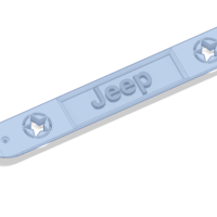 Small Jeep Wrangler JK Door Handle Insert with Jeep in Center 3D Printing 206013