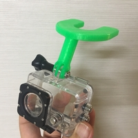 Small gopro mouthpiece mount 3D Printing 206014