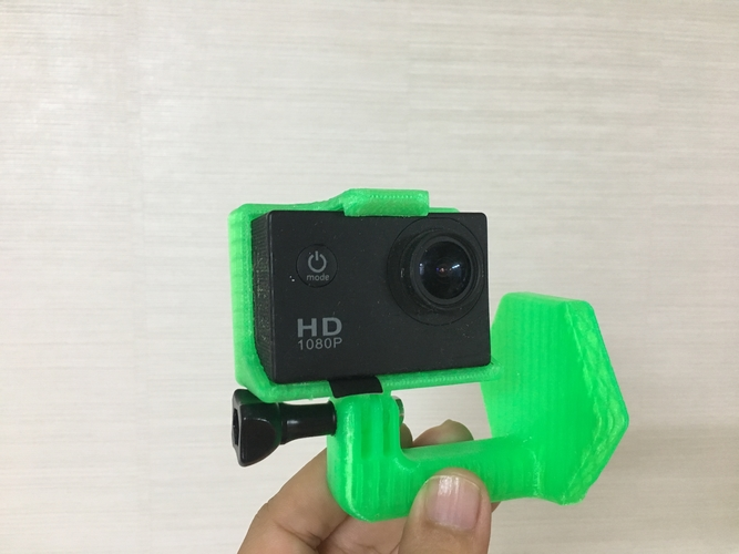 gopro helmet mount (curved surface) 3D Print 206016