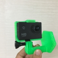 Small gopro helmet mount (curved surface) 3D Printing 206016