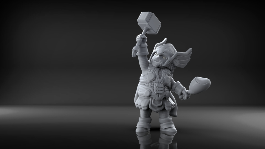 Chubby Thor (low res) 3D Print 206057