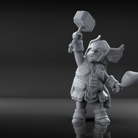 Small Chubby Thor (low res) 3D Printing 206057